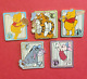 Disney WDW Cast Lanyard Series 2 - 100 Acre Baseball Complete 5 Pin Set  #23731