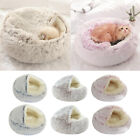 Self-Warming Pet Cat and Dog Bed Luxury Shag Fuax Fur Round Nest Sleeping Beds