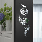 Home Decoration Acrylic Background Flower Shape Crystal Mirror Wall Stickers Art