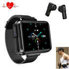 Smart Watch Heart Rate Music Control with Bluetooth Headset for iPhone Android