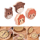 Cartoon Wooden Baby Tooth Box Milk Teeth Hair Preservation Case Container