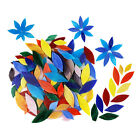 200x Assorted Colors Mosaic Tiles Hand-Cut Stained Glass for Pots Decoration