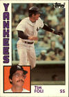 1984 Topps Traded BB Card #s 1-132 +Rookies (A4100) - You Pick - 10+ FREE SHIP