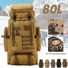 US 80L Military Tactical Backpack Army Molle Pack Bug Outdoor Bag Hiking