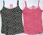 BNWT .GIRLS  FLORAL  LACE  TRIM  VEST  TOP (assorted)