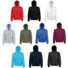 FRUIT OF THE LOOM FULL ZIP HOODED TOP HOODIE ALL SIZES