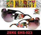 Ed Hardy Unisex Sunglasses ZEKE Cross EHS 023 AUTHENTIC