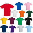 FRUIT OF THE LOOM KIDS BOYS GIRLS T SHIRT TEE - 12 COLOURS ALL AGES SS031