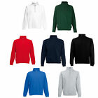 FRUIT OF THE LOOM 1/4 ZIP NECK SWEATSHIRT JUMPER S-XXL