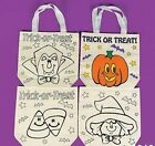 1 Paint Your Own Halloween Canvas Tote Bag   8 3/4""