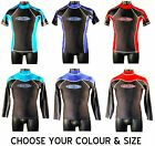 MENS LYCRA WETSUIT RASH VEST SHORT & LONG SLEEVE S-XXL