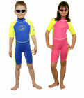 Boys Girls Surfit UV Sun Protection Suit Shorty Wetsuit