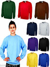 Childrens Plain Sweatshirt Age 2 to 13 Boys Girls Kids School Uniform