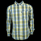 BNWT Mens Bench ' Reddish ' Grey Yellow Check Shirt