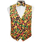 Hot n Spicy Chilli Peppers Vest and Bowtie Set