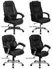 Office, Home Office Furniture Padded Leather Arm Chairs