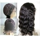 "Full Lace Front Lace Wigs India Remy Hair 12""  Bodywave"