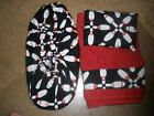 BOWLING PINS BOWLING SHOE COVERS-TOWEL-ROSIN BAG SET