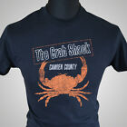 The Crab Shack My Name is Earl TV Themed Retro T Shirt Crabman Cool Tee