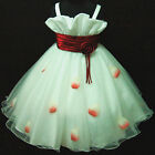 NWT Reds White Wedding Party Bridesmaid Flower Girls Dresses SIZE 2,4,6,8,10,12Y