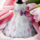 Purples Communion Wedding Party Prom Flower Girls Dresses SIZE 2 3 4 5 6 7 8 10T
