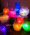 100g Water Pearl Bead + 12 LED Submersible Wedding Floralytes Floral Tea Light