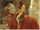 S-M-L-XL John Collier Mythology Painting Ceramic Bathroom Shower Tile Murals 1