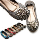 NEW Womens Shoes Ballet Flat Loafer Soft Comfy Cute Silver Beads Accent