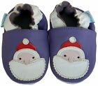 NEW CHRISTMAS SOFT LEATHER BABY SHOES 0-6, 6-12, 12-18, 18-24 Mths SANTA