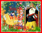 #188 NWT Christmas Party Snow White Princess Costume Girls Dress SZ 3-4-5-6-7-8Y