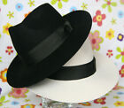 2pcs MICHAEL JACKSON White Black Hats Smooth Criminal Billie Jean Classic Fedora