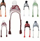 NORWEGIAN HAT WITH TASSLES AND POMPOMS - 7 COLOURS - TRENDY WINTER HAT BEANIE