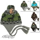 2011 NEW STYLE WINTER BEANIE DEER PRINT HAND KNITTED HAT  HIGH QUALITY