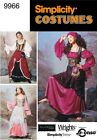 PATTERN SIMPLICITY Gypsy Wench Maiden Dress LOTR 9966 Belly Dance Rhen Fair