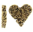 Antique Brass Wire heart Steampunk style 4pcs or 20pcs (026)