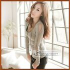 New Korea Special Hollow Sleeves Design Soft Feeling Cotton Top