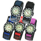 New Girl Boy Lady Children Digital Sports Wristwatch Nylon Band Watch 5 Colors