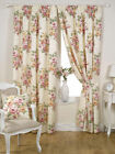 Floral Ready Made Fully Lined Tape Curtains - Rose