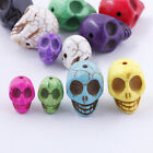 Wholesale All Color Turquoise Carved Skull Beads Fit Charm Bracelet