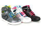 New Womens Pineapple Dance Gym Hi Top Baseball Boots Skate Trainers Size 3-8 UK