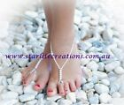 Baby Barefoot Sandals BRIDAL WHITE Beach Bridal Christening Naming Day Girls