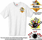 Embroidered  BOWLING Tee Shirt 12 Colors  (FREE USA SHIPPING)