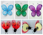 "12pc 4.3"" Nylon Butterfly& ladybug Wedding Supplies Decorations Free Ship U PICK"
