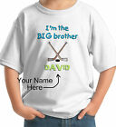 BIG BROTHER HOCKEY PERSONALIZED KIDS T-SHIRT white grey