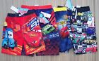 "DISNEY/PIXAR ""CARS"" BOYS BOARD TYPE POLYESTER SWIM TRUNKS SZ 3T TO 7 LIST $20"