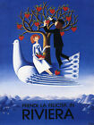 Italian Riviera Love Couple Italy Tourism Travel Vintage Poster Repo FREE S/H