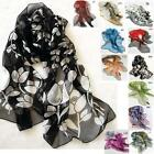 PROMOTION! 100% high quality silk floral print style light soft long scarf