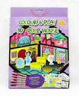 3D COLOUR & PLAY MAKE A SCENE CRAFT KITS DOLLS HOUSE, ANIMALS, INSECTS et1724