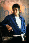 MICHAEL JACKSON DRESSED IN BLUE SHIRT FABRIC BLOCK NOT IRON ON YOU CHOOSE SIZE