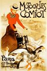 MOTORCYCLE Comiot Bike Lady with Ducks Paris France Vintage Poster Repo FREE S/H